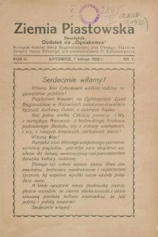 "Ziemia Piastowska : dodatek do ""Ogniskowca"". R.2, Nr. 1 (1 lutego 1932)"