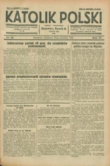 Katolik Polski. R.4, nr 18 (22 stycznia 1928) + dod.