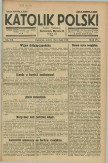 Katolik Polski. R.4, nr 110 (12 maja 1928) + dod.