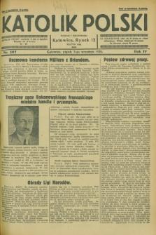 Katolik Polski. R.4, nr 207 (7 września 1928) + dod.