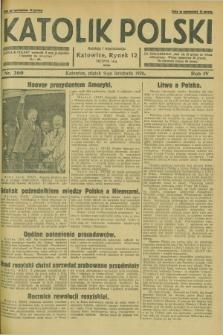 Katolik Polski. R.4, nr 260 (9 listopada 1928) + dod.