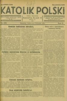 Katolik Polski. R.4, nr 270 (21 listopada 1928) + dod.
