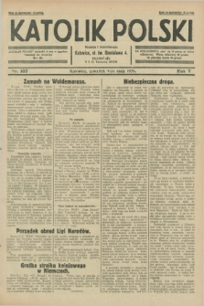 Katolik Polski. R.5, nr 107 (9 maja 1929) + dod.