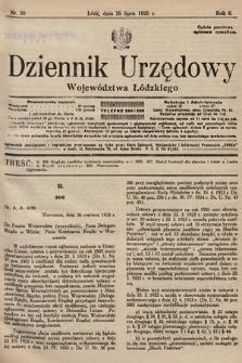Dziennik Urzędowy Województwa Łódzkiego. 1925, nr30
