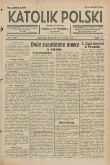 Katolik Polski. R.5, nr 209 (11 września 1929) + dod.