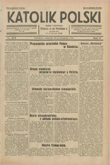 Katolik Polski. R.5, nr 272 (24 listopada 1929) + dod.