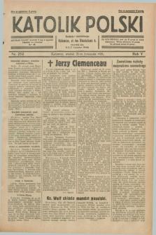 Katolik Polski. R.5, nr 273 (26 listopada 1929) + dod.