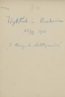 Odczyty i wykłady z lat 1901-1917
