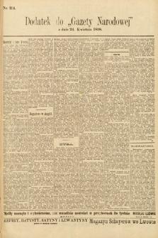 Gazeta Narodowa. 1898, nr114