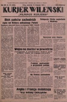 Kurjer Wileński = Vilniaus Kurjeris. 1939, nr270