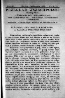 Przegląd Wszechpolski : miesięcznik poświęcony polityce narodowej oraz zagadnieniom życia społecznego, ekonomicznego iumysłowego. 1905, nr8/10