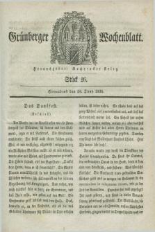 Gruenberger Wochenblatt. 1834, Stück 26 (28 Juny)