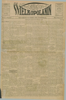 Wielkopolanin : organ urzędowy Unii Świętego Józefa w Pittsburgu, PA. R.8, No. 37 (13 września 1906)