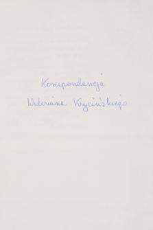 Korespondencja Waleriana Krycińskiego z lat 1874–1928. T. 3, P–Z