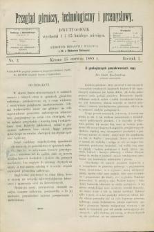 Przegląd Górniczy, Technologiczny i Przemysłowy. R.1, nr 2 (15 czerwca 1889)