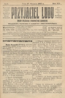 Przyjaciel Ludu : organ Polskiego Stronnictwa Ludowego. 1907, nr5
