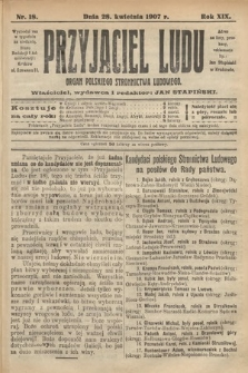 Przyjaciel Ludu : organ Polskiego Stronnictwa Ludowego. 1907, nr18
