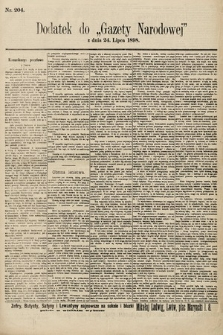 Gazeta Narodowa. 1898, nr204