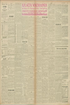 """Ajencja Wschodnia. Codzienne Wiadomości Ekonomiczne = Agence Télégraphique de l'Est = Telegraphenagentur """"Der Ostdienst"""" = Eastern Telegraphic Agency. R.8, nr 16 (20 stycznia 1928)"""