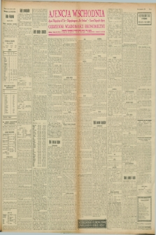 "Ajencja Wschodnia. Codzienne Wiadomości Ekonomiczne = Agence Télégraphique de l'Est = Telegraphenagentur ""Der Ostdienst"" = Eastern Telegraphic Agency. R.8, nr 66 (20 marca 1928)"
