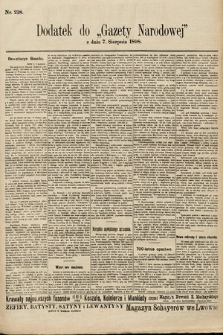 Gazeta Narodowa. 1898, nr218