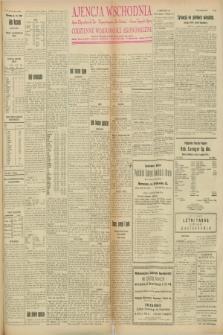 """Ajencja Wschodnia. Codzienne Wiadomości Ekonomiczne = Agence Télégraphique de l'Est = Telegraphenagentur """"Der Ostdienst"""" = Eastern Telegraphic Agency. R.8, Nr. 123 (1 czerwca 1928)"""