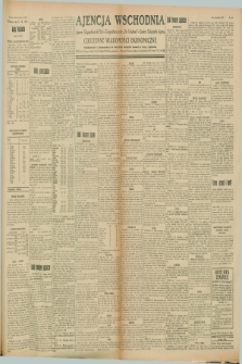 "Ajencja Wschodnia. Codzienne Wiadomości Ekonomiczne = Agence Télégraphique de l'Est = Telegraphenagentur ""Der Ostdienst"" = Eastern Telegraphic Agency. R.8, Nr. 160 (17 lipca 1928)"