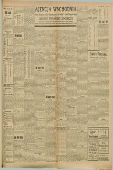 "Ajencja Wschodnia. Codzienne Wiadomości Ekonomiczne = Agence Télégraphique de l'Est = Telegraphenagentur ""Der Ostdienst"" = Eastern Telegraphic Agency. R.8, Nr. 176 (4 sierpnia 1928)"