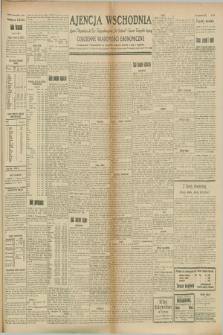 "Ajencja Wschodnia. Codzienne Wiadomości Ekonomiczne = Agence Télégraphique de l'Est = Telegraphenagentur ""Der Ostdienst"" = Eastern Telegraphic Agency. R.8, Nr. 179 (8 sierpnia 1928)"