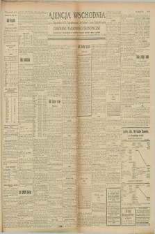 "Ajencja Wschodnia. Codzienne Wiadomości Ekonomiczne = Agence Télégraphique de l'Est = Telegraphenagentur ""Der Ostdienst"" = Eastern Telegraphic Agency. R.8, Nr. 180 (9 sierpnia 1928)"
