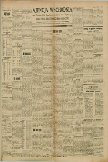 "Ajencja Wschodnia. Codzienne Wiadomości Ekonomiczne = Agence Télégraphique de l'Est = Telegraphenagentur ""Der Ostdienst"" = Eastern Telegraphic Agency. R.8, Nr. 190 (22 sierpnia 1928)"