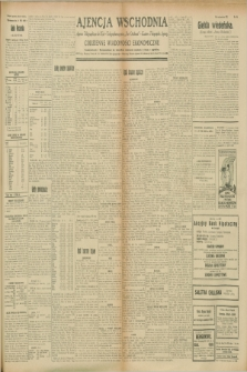 "Ajencja Wschodnia. Codzienne Wiadomości Ekonomiczne = Agence Télégraphique de l'Est = Telegraphenagentur ""Der Ostdienst"" = Eastern Telegraphic Agency. R.8, Nr. 198 (31 sierpnia 1928)"