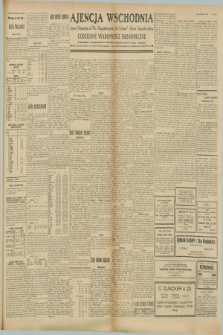 """Ajencja Wschodnia. Codzienne Wiadomości Ekonomiczne = Agence Télégraphique de l'Est = Telegraphenagentur """"Der Ostdienst"""" = Eastern Telegraphic Agency. R.8, nr 213 (18 września 1928)"""