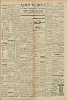 """Ajencja Wschodnia. Codzienne Wiadomości Ekonomiczne = Agence Télégraphique de l'Est = Telegraphenagentur """"Der Ostdienst"""" = Eastern Telegraphic Agency. R.8, nr 229 (6 października 1928)"""