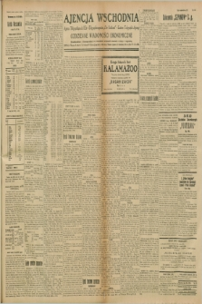 """Ajencja Wschodnia. Codzienne Wiadomości Ekonomiczne = Agence Télégraphique de l'Est = Telegraphenagentur """"Der Ostdienst"""" = Eastern Telegraphic Agency. R.8, nr 258 (10 listopada 1928)"""