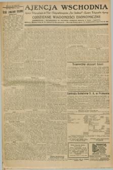 """Ajencja Wschodnia. Codzienne Wiadomości Ekonomiczne = Agence Télégraphique de l'Est = Telegraphenagentur """"Der Ostdienst"""" = Eastern Telegraphic Agency. R.8, nr 292 B (21 grudnia 1928)"""