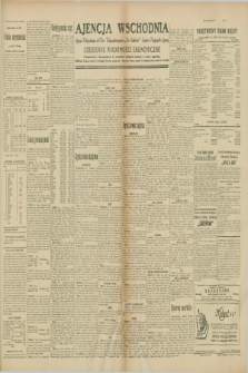 """Ajencja Wschodnia. Codzienne Wiadomości Ekonomiczne = Agence Télégraphique de l'Est = Telegraphenagentur """"Der Ostdienst"""" = Eastern Telegraphic Agency. R.10, nr 19 (24 stycznia 1930)"""