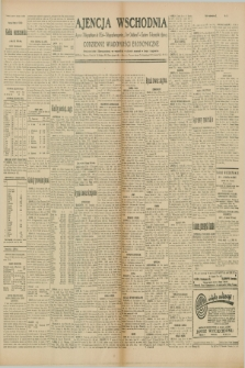 "Ajencja Wschodnia. Codzienne Wiadomości Ekonomiczne = Agence Télégraphique de l'Est = Telegraphenagentur ""Der Ostdienst"" = Eastern Telegraphic Agency. R.10, nr 34 (11 lutego 1930)"