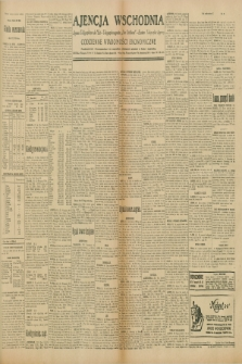 "Ajencja Wschodnia. Codzienne Wiadomości Ekonomiczne = Agence Télégraphique de l'Est = Telegraphenagentur ""Der Ostdienst"" = Eastern Telegraphic Agency. R.10, nr 49 (28 lutego 1930)"