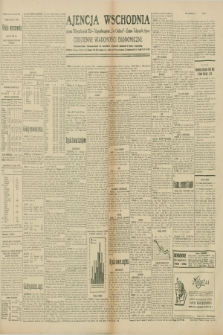 "Ajencja Wschodnia. Codzienne Wiadomości Ekonomiczne = Agence Télégraphique de l'Est = Telegraphenagentur ""Der Ostdienst"" = Eastern Telegraphic Agency. R.10, nr 67 (21 marca 1930)"