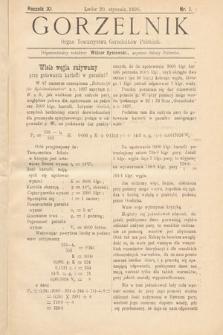 Gorzelnik : organ Towarzystwa Gorzelników Polskich we Lwowie. R. 11, 1898, nr1