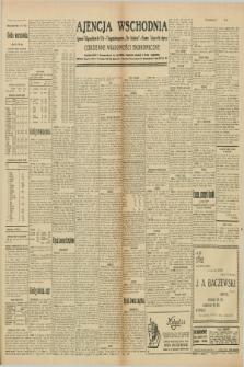 """Ajencja Wschodnia. Codzienne Wiadomości Ekonomiczne = Agence Télégraphique de l'Est = Telegraphenagentur """"Der Ostdienst"""" = Eastern Telegraphic Agency. R.10, nr 81 (6 i 7 kwietnia 1930)"""