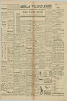"""Ajencja Wschodnia. Codzienne Wiadomości Ekonomiczne = Agence Télégraphique de l'Est = Telegraphenagentur """"Der Ostdienst"""" = Eastern Telegraphic Agency. R.10, nr 83 (9 kwietnia 1930)"""