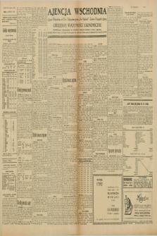 """Ajencja Wschodnia. Codzienne Wiadomości Ekonomiczne = Agence Télégraphique de l'Est = Telegraphenagentur """"Der Ostdienst"""" = Eastern Telegraphic Agency. R.10, nr 91 (18, 19, 20, 21 i 22 kwietnia 1930)"""