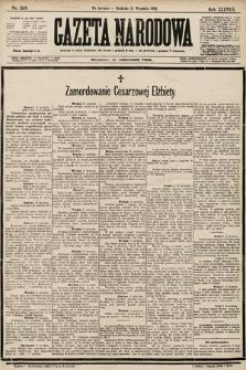 Gazeta Narodowa. 1898, nr253