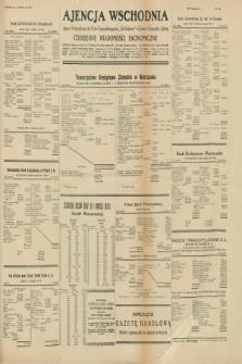 """Ajencja Wschodnia. Codzienne Wiadomości Ekonomiczne = Agence Télégraphique de l'Est = Telegraphenagentur """"Der Ostdienst"""" = Eastern Telegraphic Agency. R.10, nr 135 A (15 czerwca 1930)"""