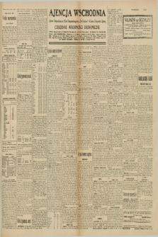 "Ajencja Wschodnia. Codzienne Wiadomości Ekonomiczne = Agence Télégraphique de l'Est = Telegraphenagentur ""Der Ostdienst"" = Eastern Telegraphic Agency. R.10, nr 154 (9 lipca 1930)"