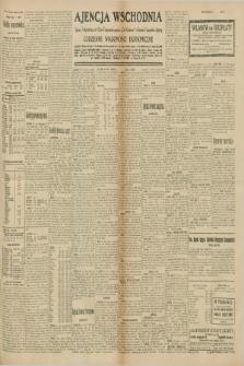 "Ajencja Wschodnia. Codzienne Wiadomości Ekonomiczne = Agence Télégraphique de l'Est = Telegraphenagentur ""Der Ostdienst"" = Eastern Telegraphic Agency. R.10, nr 160 (16 lipca 1930)"