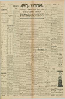 "Ajencja Wschodnia. Codzienne Wiadomości Ekonomiczne = Agence Télégraphique de l'Est = Telegraphenagentur ""Der Ostdienst"" = Eastern Telegraphic Agency. R.10, nr 176 (3 i 4 sierpnia 1930)"