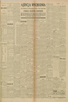 "Ajencja Wschodnia. Codzienne Wiadomości Ekonomiczne = Agence Télégraphique de l'Est = Telegraphenagentur ""Der Ostdienst"" = Eastern Telegraphic Agency. R.10, nr 180 (8 sierpnia 1930)"